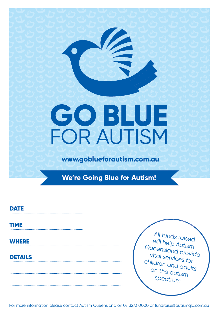 Go Blue for Autism Event Poster