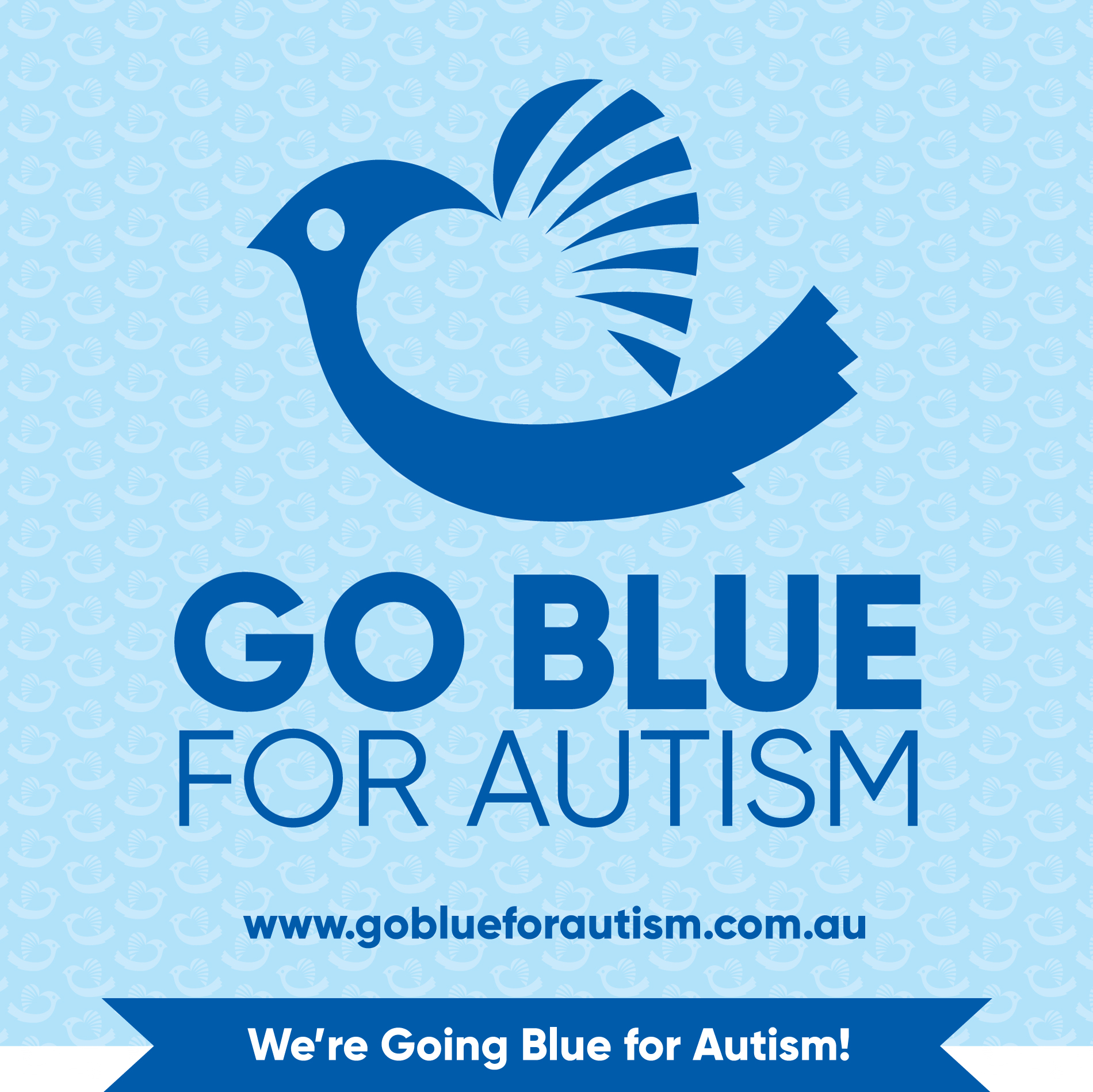 Go Blue for Autism Supporter Image